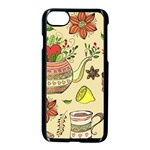 Colored Afternoon Tea Pattern Apple iPhone 7 Seamless Case (Black)