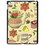 Colored Afternoon Tea Pattern Apple iPad Pro 9.7   Black Seamless Case