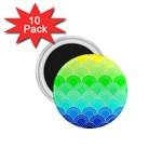 art deco rain bow 1.75  Magnets (10 pack)