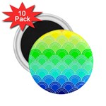 art deco rain bow 2.25  Magnets (10 pack)