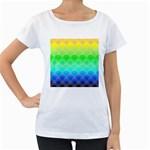 art deco rain bow Women s Loose-Fit T-Shirt (White)