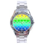 art deco rain bow Stainless Steel Analogue Watch