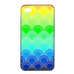 art deco rain bow Apple iPhone 4/4s Seamless Case (Black)