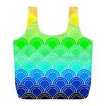 art deco rain bow Full Print Recycle Bags (L)