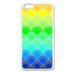 art deco rain bow Apple iPhone 6 Plus/6S Plus Enamel White Case