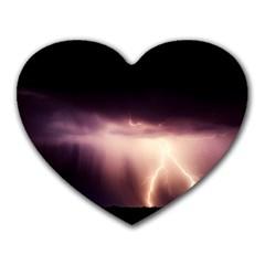 Storm Weather Lightning Bolt Heart Mousepads from DesignYourOwnGift.com Front