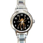 Insect Macro Spider Colombia Round Italian Charm Watch