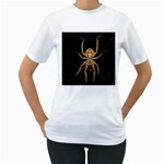 Insect Macro Spider Colombia Women s T-Shirt (White) (Two Sided)