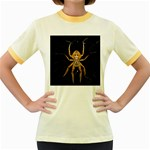 Insect Macro Spider Colombia Women s Fitted Ringer T-Shirts