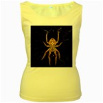 Insect Macro Spider Colombia Women s Yellow Tank Top