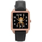 Insect Macro Spider Colombia Rose Gold Leather Watch