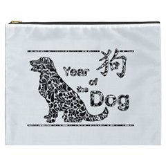 Year Of The Dog   Chinese New Year Cosmetic Bag (xxxl)  by Valentinaart