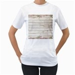 On Wood 2188537 1920 Women s T-Shirt (White) (Two Sided)