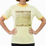 On Wood 2188537 1920 Women s Fitted Ringer T-Shirts