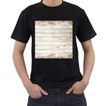 On Wood 2188537 1920 Men s T-Shirt (Black) (Two Sided)