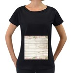 On Wood 2188537 1920 Women s Loose-Fit T-Shirt (Black)