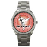 TAE KWON DO Martial Arts Karate Boys Sport Metal Watch