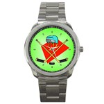 HOCKEY Ice Skate Puck Sports Girls TV  Sport Metal Watch