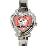 TAE KWON DO Martial Arts Karate Boys Heart Charm Watch