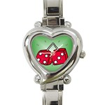 DICE Las Vegas Craps Poker Chips Card Heart Charm Watch