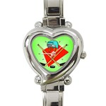 HOCKEY Ice Skate Puck Sports Girls TV  Heart Charm Watch