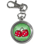 DICE Las Vegas Craps Poker Chips Card Key Chain Watch