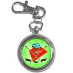 HOCKEY Ice Skate Puck Sports Girls TV  Key Chain Watch