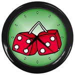 DICE Las Vegas Craps Poker Chips Card Wall Clock