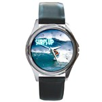 SURFING Surfer Surfboard Sports Boys Round Metal Watch