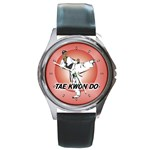 TAE KWON DO Martial Arts Karate Boys Round Metal Watch