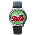 DICE Las Vegas Craps Poker Chips Card Round Metal Watch