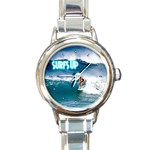 SURFING Surfer Surfboard Sports Boys Round Charm Watch