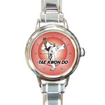 TAE KWON DO Martial Arts Karate Boys Round Charm Watch