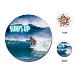 SURFING Surfer Surfboard Sports Boys Round Playing Card
