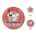 TAE KWON DO Martial Arts Karate Boys Round Playing Card