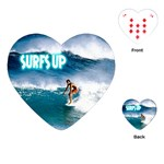 SURFING Surfer Surfboard Sports Boys Heart Playing Card