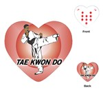 TAE KWON DO Martial Arts Karate Boys Heart Playing Card