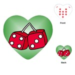 DICE Las Vegas Craps Poker Chips Card Heart Playing Card