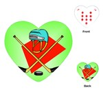 HOCKEY Ice Skate Puck Sports Girls TV  Heart Playing Card