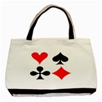 POKER Playing Card Handbag Funny Game Classic Canvas Tote Bag