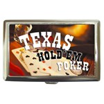 TEXAS HOLDEM Poker Game Gambling Cigarette Money Case Box