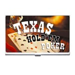 TEXAS HOLDEM Poker Game Gambling Business Name Card Holder Case