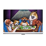 TEXAS HOLDEM POKER Dogs Playing Casino Business Name Card Holder Case