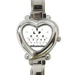 OPHTHALMOLOGY Eye Vision Chart Optometrist Heart Charm Watch