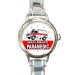 PARAMEDIC Ambulance RN EMT EMS Medical Nurse Round Charm Watch