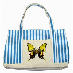 Butterfly M2 Striped Blue Tote Bag from UrbanLoad.com Front