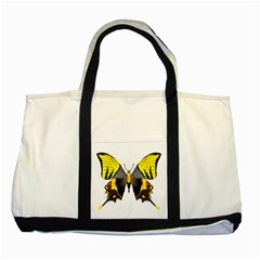 Butterfly M2 Two Tone Tote Bag from UrbanLoad.com Front