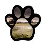 Goth Dark Castle in Thunderstorm Magnet (Paw Print)