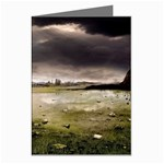 Goth Dark Castle in Thunderstorm Greeting Card