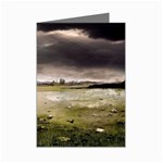 Goth Dark Castle in Thunderstorm Mini Greeting Card